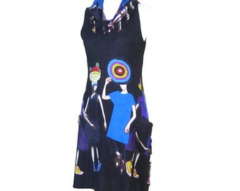 20% Off Summer Dress, TRENDY SLEEVELESS DRESS, Summer Dress, womens clothes, retro dresses, pocket print dress, vintage summer dress,