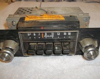Vintage philco truck radio