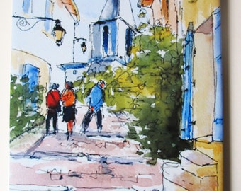 Ceramic Tile Provence Arles French town