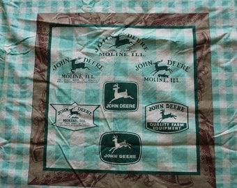 John Deere Pillow Fabric Panels DIY, John Deere Moline Fabric Panels