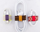 Cable Band, a versatile cable organizer - set of 3 - fits a variety of small to medium cords - cable tie / manager