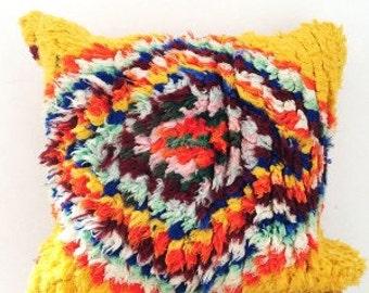 Boucherouite Pillow Cover