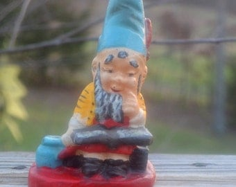 SALE - Vintage Gnome Wax Candle