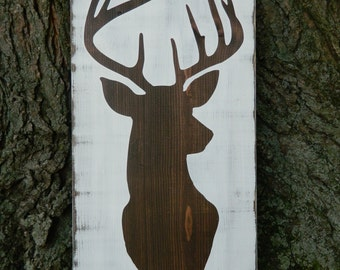 Hunter Deer Buck Lover's Gift~ 11x22~ Trophy Taxidermy Alternative