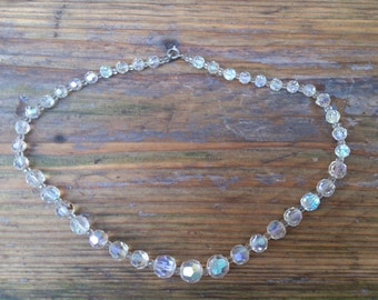 vintage crystal/glass bead necklace