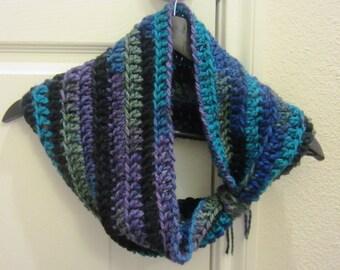 Chunky Crochet Pattern Cowl Infinity Cowl Neckwarmer Scarf Winter Fall