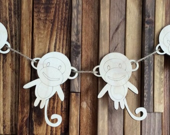 pack of 10 unpainted laser cut  Cheeky Monkeys perfect for crafting