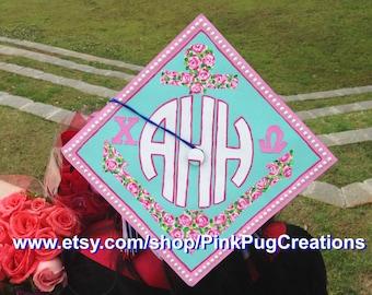 CUSTOM Painted Graduation Cap (Mortar Board)