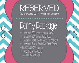 RESERVED**RUSH** Party Package