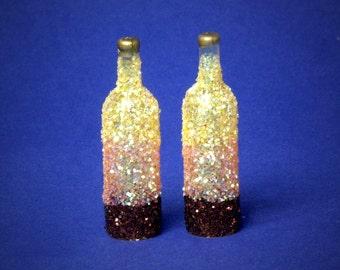 Decorative Miniature Bottle Bronze / Yellow for your Dollhouse