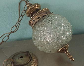 Vintage Pendant/Swag Light