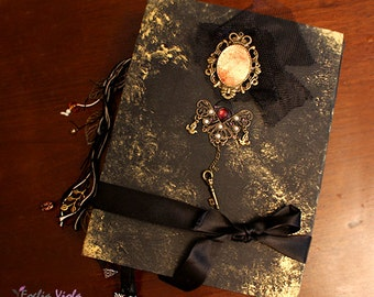 PERSONALIZE YOUR BOS Moonlight Spell wedding journal Book of Shadows spells Grimoire spell book pagan gift her idea diary handcraft