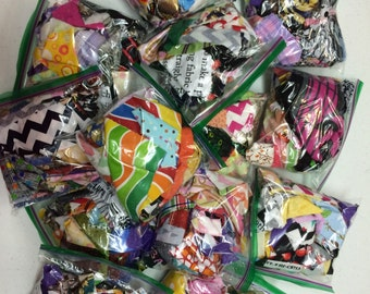 Sale! Cotton Fabric Scrap Bags! Assorted Designer Fabric Prints!