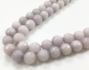 10mm faceted jade beads  ,semi precious gemstone