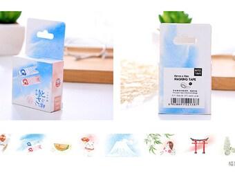 15mmX10M Japanese Koinobori Carp banners Washi Tape Diary Masking Tape