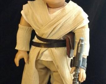 Force Awakens Star Wars Rey Costume for American Girl Doll