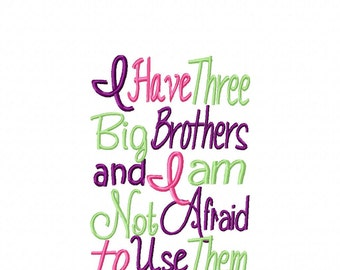 Three Big Brother Embroidery Design