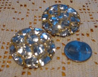 Fabulous 50's Lucite and Glitter Earrings