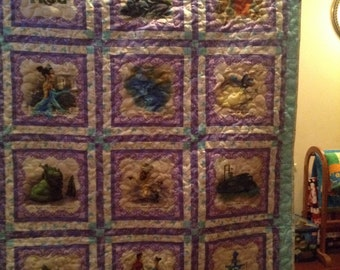 The princess and the frog quilt