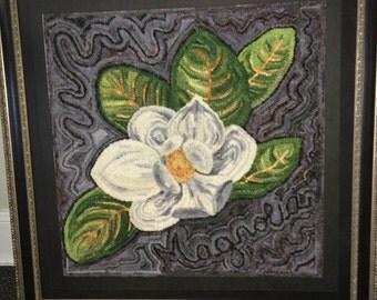 Magnolia Rug Hooking Pattern