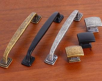 "3.75"" 5"" Cabinet Pulls Door Handles Knobs Drawer Pulls / Drawer Pull Handles / Dresser Pulls Handle Antique Bronze Silver Black 96 128 mm"