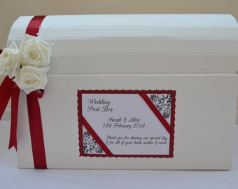 Stunning personalised wedding card chest post box lots of colours decoration
