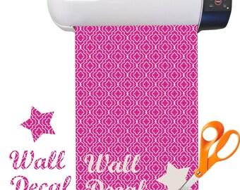 Trellis Print Adhesive Fabric Sheets (Select Color)