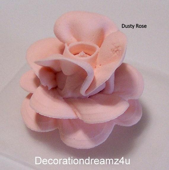 Edible Rose Cake Decoration : 10 - Edible Rose, Edible Flower, Edible Topper, Edible ...