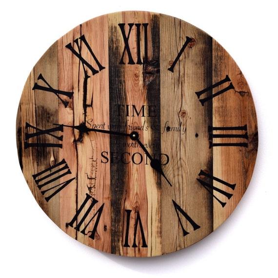Reclaimed Barn Wood Clock Rustic Wood Wall Clock Large Barn