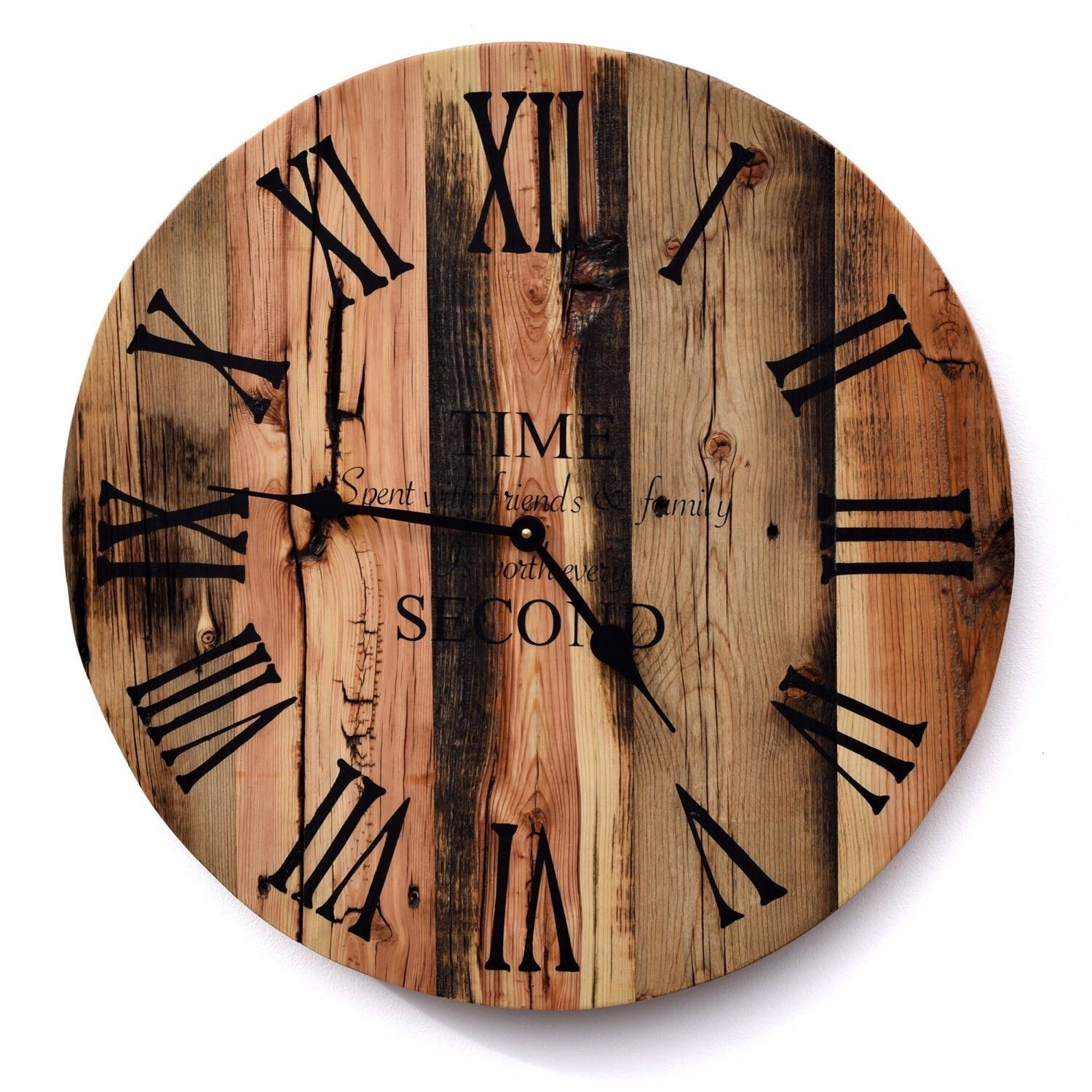 Reclaimed Barn Wood Clock Rustic Wood Wall Clock Large Barn