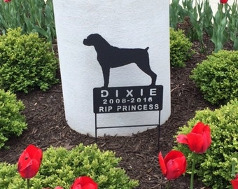 Boxer Dog Memorials, Boxer Pet Memorial, Metal Pet Memorials,  Metal Signs,  Custom Signs, Cemetery Sign, Graveyard Marker,  Address Sign