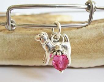 """Spaniel Large Dangle Stackable Bangle Bracelet (2.5""""-3"""")"""