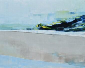 "FREE SCHIPPING! ""Landscape XXV"" 39.37/27.5(100/70cm). Oil painting on cotton canvas. Unique impasto texture. abstract, city."