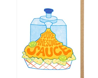 You're Awesome Sauce Letterpress Card