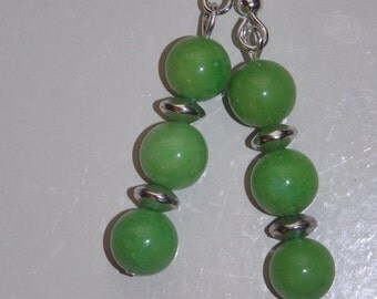 25%OFF Apple Green Candy Jade Earrings