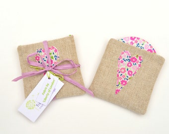 Pocket Mirror and Pouch // Choose your Liberty Fabric and design // Wedding Favours // Bridesmaid Gift // Hen Party Gift // Maid of Honour