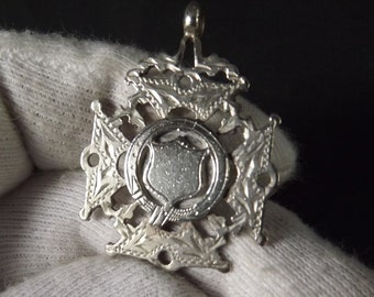 Antique  Sterling Silver Watch Chain Fob by William Hair Haseler 1916
