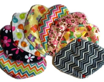 Cloth Panty Liner - Set of 8 pcs Reusable/ washable cloth Panty liner pads with Wings