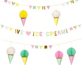 CLEARANCE! - Ice Cream Garland -  Meri Meri Ice Cream Party Banner