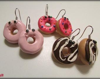 Donut Earrings, Doughnut Earrings, Donut Jewelry, Donuts Earrings, Donuts, Donut Party, Jewelry Donuts, Earring Donuts, Doughnut Jewelry Set