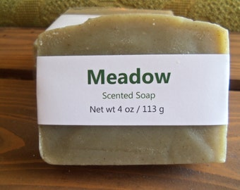 Meadow Scented Cold Process Soap with Shea Butter