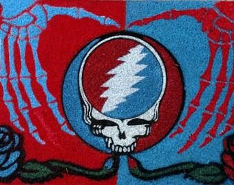 red blue skeleton hands stealie