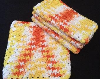 Set of 4 Cotton Crochet Dishcloth