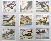 Coca Cola America's Fighting Planes in Action, Complete 20-Card Set, Original Envelope