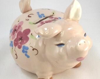 deLee Pottery Piggy Bank Butch California Mid-century