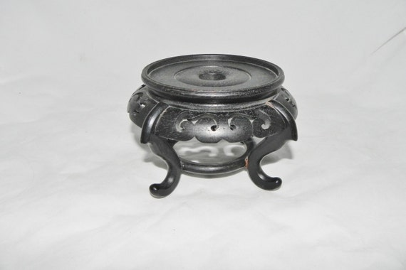 Oriental plant fish bowl stand classic open scroll work for Fish bowl stand
