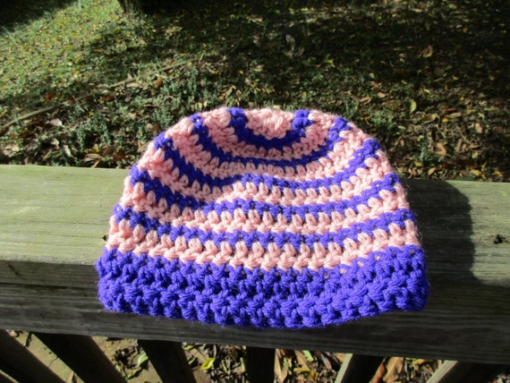 Baby/Toddler Beanie in Pink and Purple