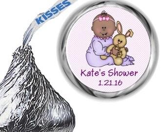 108 Baby Girl Shower Hershey Kiss Stickers