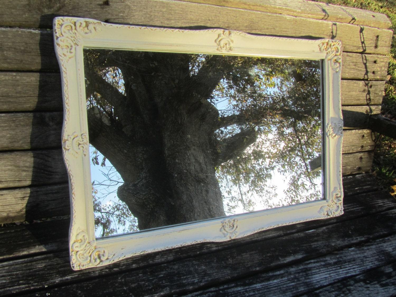 Shabby Chic Mirror Reclaimed Medicine Cabinet Mirror White