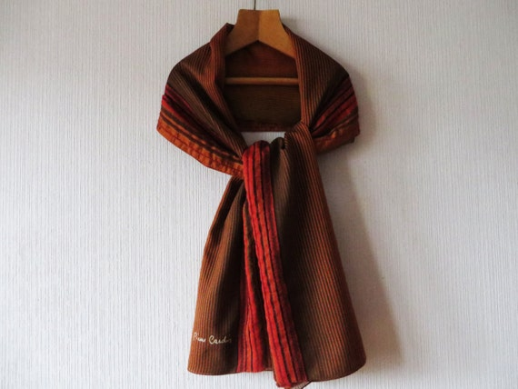 cardin scarf s large scarf striped terracotta